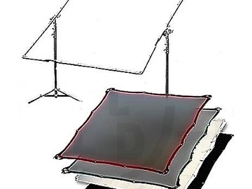 Rent: Butterfly kit 6ft. x 6ft. kit with 5 fabrics & C-stands