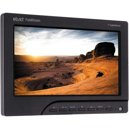 "Elvid FieldVision 7"" On-Camera Monitor with Canon LP-E6 Batt"