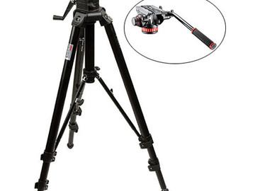 Rent: Manfroot 475B Professional Tripod + 501HDV Video Head