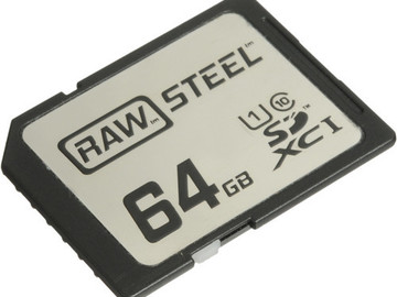 Rent: Hoodman 64GB SDXC Memory Card RAW STEEL Class 10 UHS-1