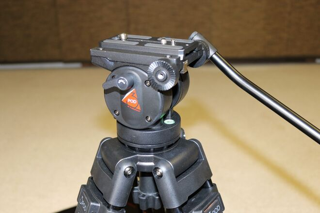 Video Tripod with 2-way Fluid Head & Quick-Release Plate