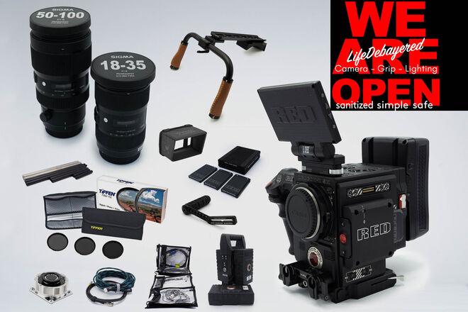 RED DSMC2 Dragon-X 6K w/ Sigma ART Zoom Run-N-Gun Package