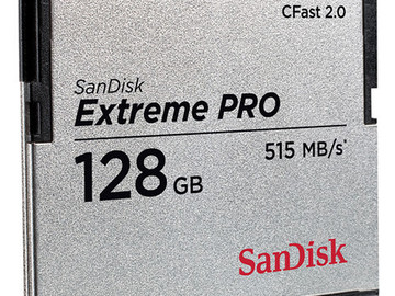 Rent: (2) SanDisk 128GB Extreme Pro CFAST 2.0 Memory Cards/Reader