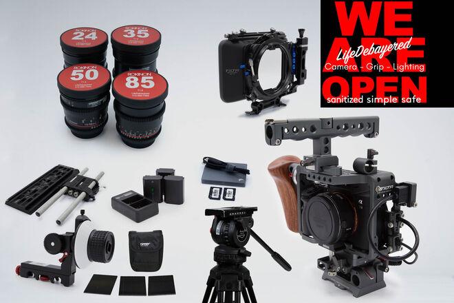 Sony Alpha A7 III Cinema Production Package with Rokinon