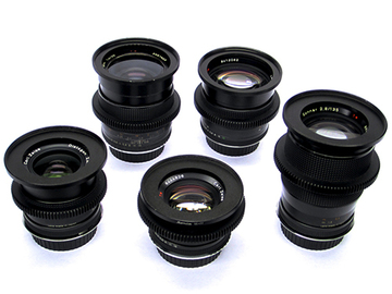Rent: Zeiss Cinevised Lens Set (25/35/50/85/135mm) w/ EF Mount