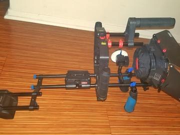 Versatile Shoulder Rig w/Follow Focus, Camera Cage, Matt Box