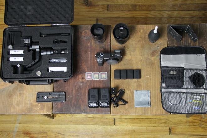 Sony a6500 / 3 Lenses / ND / Gimbal Zhiyun Crane Plus