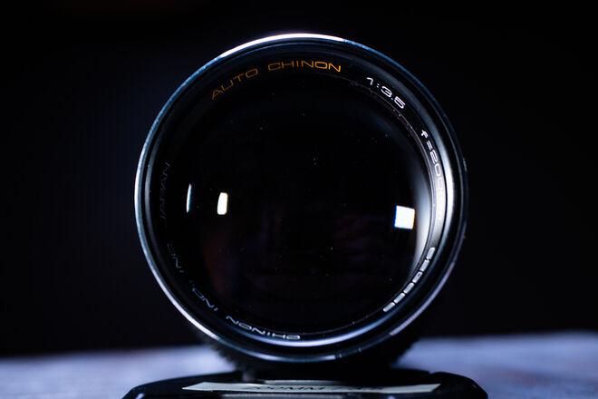 Vintage Chinon 200mm f/3.5 Cine-Modded Lens