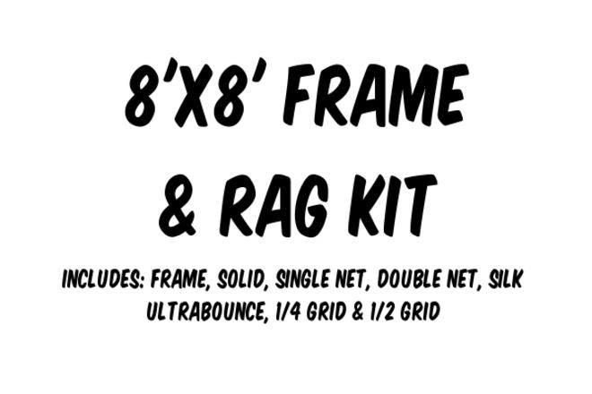 8'x8' Frame and Rag Kit