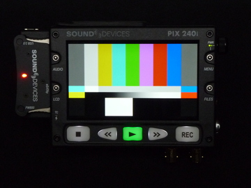 "Rent: VIDEO DEVICES PIX 240i, 5"" PORTABLE VIDEO RECORDER MONITOR"