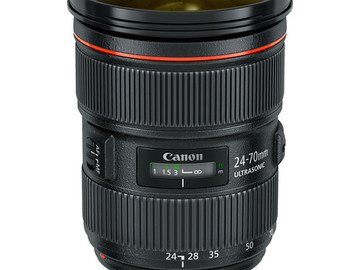 Rent: Canon 24-70mm 2.8L Mark 2 or II Lens