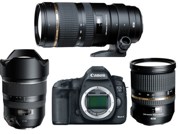 Rent: 5d Mark iii with 3 lens set (15-30mm, 24-70mm, 70-200mm)