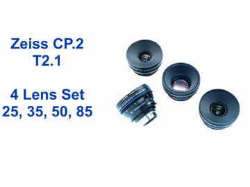 Zeiss Compact Prime CP2 T2.1 - 4 Lens Set