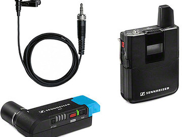 Rent: (3) Sennheiser AVX Camera-Mountable Lavalier Wireless Set