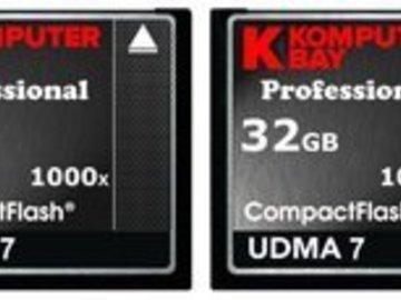 Rent: Komputer Bay Professional 32GB 1000x (150MB/s) CF Card x 2 (
