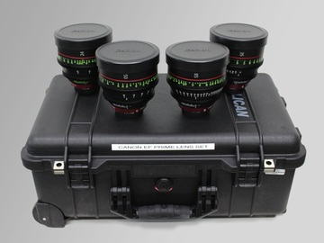 Rent: Canon Cinema Package of 4 Prime Lenses