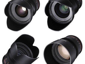 Rent: Rokinon Cine DS | Sony E-mount | 5 lens SET | ND Filter