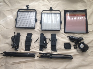 2 1x1 LED Litepanels, 1 Filex P360EX Variable Color LED