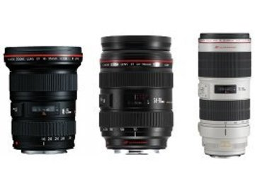 Canon L Series Lens Package- 2.8 16-35mm, 24-70mm, 70-200mm