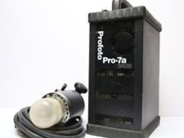 Rent: Profoto 1x 7a 2400 pack 1 Pro head + trigger set package