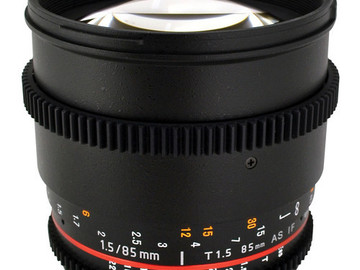 Rent: Rokinon 85mm T1.5 Cine Lens for Canon EF Mount