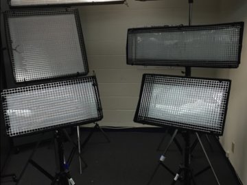 Rent: FULL PRODUCTION LIGHTING: 6 LIGHTS/ 6 STANDS