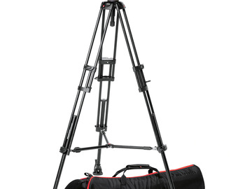 Rent: Manfrotto 546 Tripod with 504HD Head (Black)
