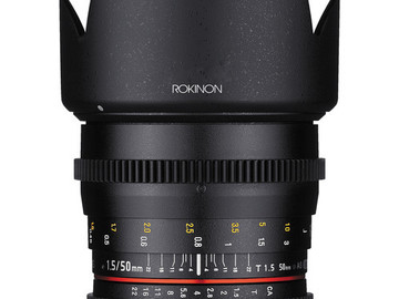 Rent: Rokinon 50mm T1.5 AS UMC Cine DS Lens for Canon EF Mount