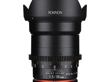 Rent: Rokinon 35mm T1.5 Cine DS Lens for Canon EF Mount