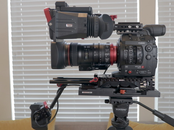 Rent: Canon C300 Mark II with Canon 18-80 Cinema Zoom + Zacuto