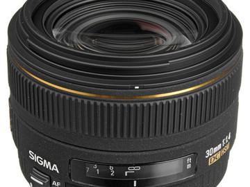 Rent: Sigma 30mm F1.4 EX DC