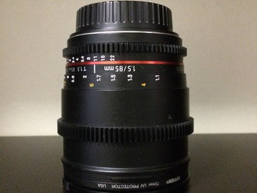 Rent: Rokinon Cine Prime Set 24,35,85mm Canon EF-s Mount