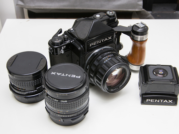Rent: Pentax 67 medium format film camera with lenses and etc