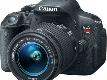 Rent: Canon EOS Rebel T5i 18-55mm Lens Battery Grip and Batteries