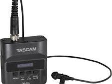 Rent: Set of 2 Tascam DR-10L Lavalier Microphones