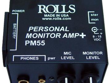 Rent: Rolls PM55 monitor amp for boom op