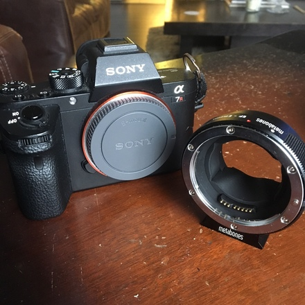 Sony a7R ii with Metabones NEX to Canon EF adapter (mark iii