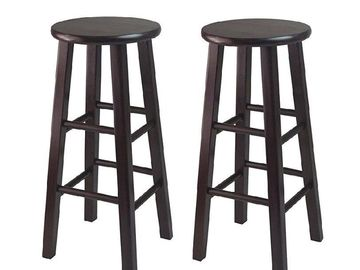 Rent: 2-Black Wooden stools