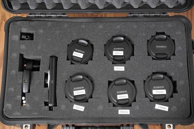 Rokinon Cine DS lens full set