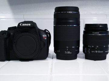 Rent: Canon EOS Rebel t5 (BODY & LENSE KIT)