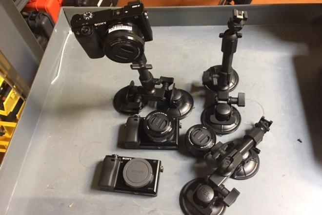 Sony a6300 THREE Camera Car Mount Kit
