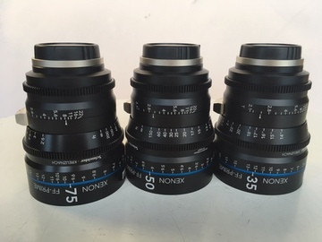 Rent: Xenon FF EF Mount Prime Kit f2 35mm, 50mm and 75mm