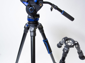 Rent: Benro S8 Fluid head w/ Tripod and Hi-Hat package