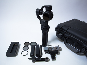 Rent: DJI OSMO 4K camera Gimbal shooters pack with ND and POLA kit