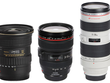 Rent: Canon/Tokina Lens Package 70-200, 24-105, 11-16mm
