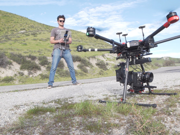 Rent: HEAVY LIFTING DRONE FOR RED EPIC, ARRI ALEXA MINI W/PILOT
