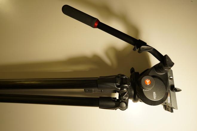 Manfrotto 504 Fluid Head - 535 Carbon Fiber Video Tripod