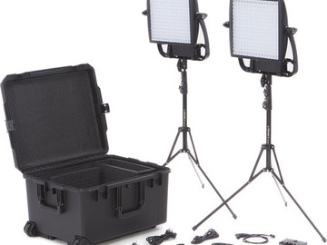 Rent: Astra 1x1 Bi-Color LED Duo Kit + 2Chimeras/2GoldM Batteries