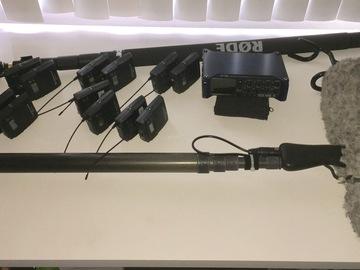 Rent: ZOOM F8, 8x SENNHEISER G3 Lav, SENNHEISER SHOTGUN 416