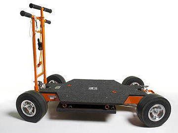 Rent: Doorway dolly with sides rubber wheels and skateboard wheels